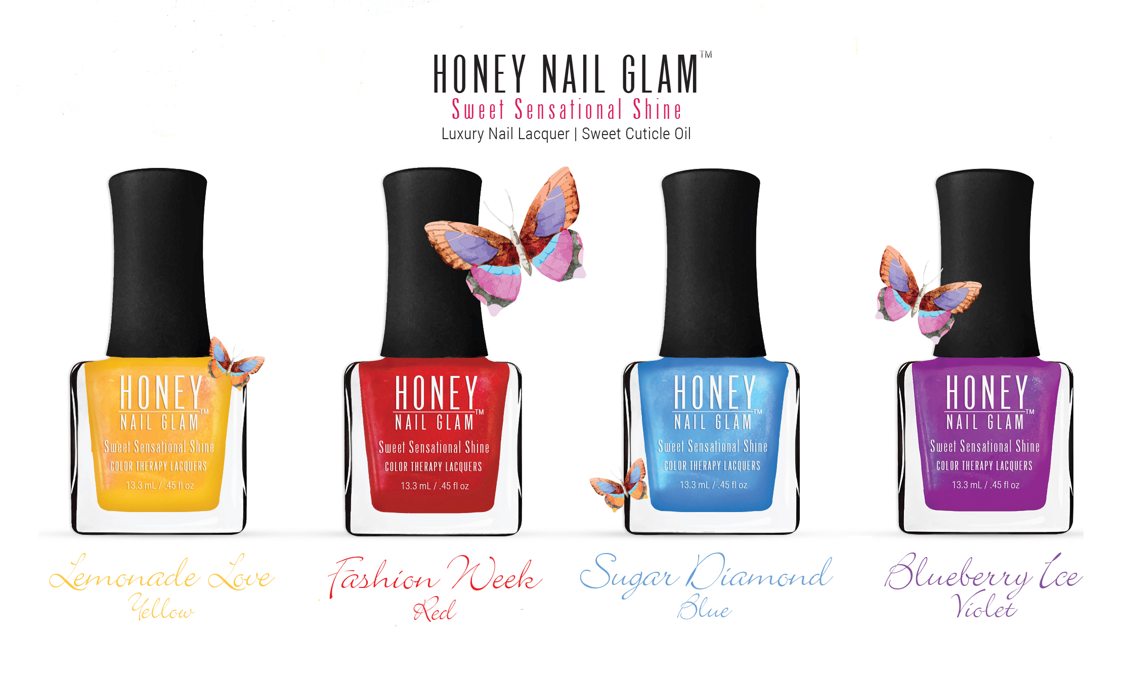 Honey Nail Glam Launches Color Therapy 5-FREE Collection News ...