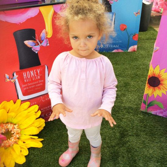 cute kid honey nail glam