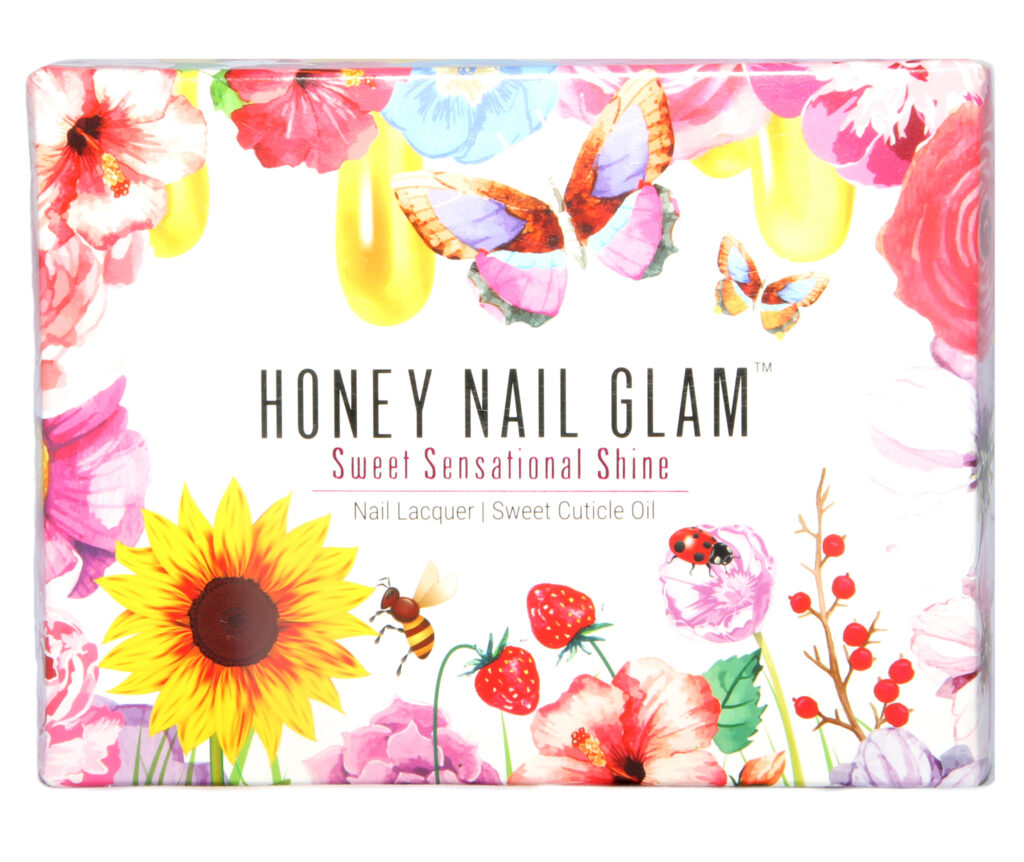 honey nail glam